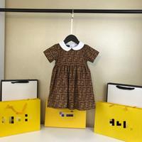 einteiliges kleid für baby großhandel-Ein stück Einzelhandel Baby mädchen mode letetr kleider Kinder mädchen sommer prinzessin kleid kinderkleidung