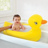 aufblasbare bad ente großhandel-Munchkin White Hot Aufblasbare Sicherheitswanne Ente 1 Kinder Minispielplatz