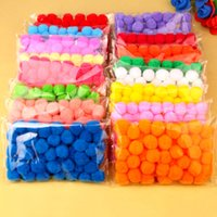 Wholesale toy manual for sale - Group buy Skillful Trade Ponpon mm Multicolor Pompom DIY Decoration Ball Pompon Children s manual educational Toys Accessories Bag