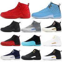 golf düşüşü toptan satış-Sıcak Satış Klasik 12 12 s Basketbol Ayakkabıları Mens Eğitmen Atletik Spor Sneakers Gama Mavi Mezuniyet Paketi Açık Havada Boyutu 7-13 Damla Nakliye