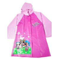 Wholesale girls cute raincoats for sale - Group buy Hiking raincoat for children cute cartoon raincoat Household Raincoat Rain Cape PVC Rain Coat pink Unicorn prints A06