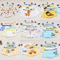 calzoncillos niño niños al por mayor-4pcs / lot de los pantalones muchachas de los bebés Los niños de la ropa interior de la historieta de pera perro mono calzoncillos para niños bragas Panty Breves infantil adolescentes M833