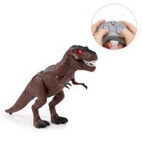 Wholesale electronic walking resale online - Moving Walking Roaring Dinosaur Remote Control Electronic Light Sound Kids Toy Halloween Gifts