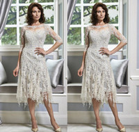 e36dec5513 Wholesale mother groom dresses for winter wedding online - Half Sleeve Lace Mother  of the Bride