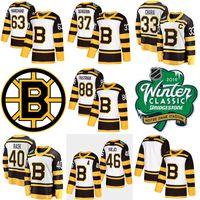 jersey de invierno bruins al por mayor-2019 Winter Classic Boston Bruins camiseta 33 Zdeno Chara 88 David Pastrnak 63 Brad Marchand Charlie Mcavoy 40 camisetas de hockey Tuukka Rask