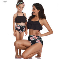 Wholesale family suits for sale - Group buy Family Bathing Suits Swimwear And Mother Girl Bikini Geometric Swimsuit For Mom Daughter Swimsuits Female Children Baby Kid Beach