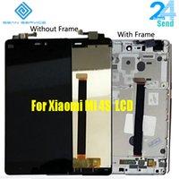 iphone original 4s lcd venda por atacado-Exibição Original Para Xiaomi Mi 4s M4S Mi4s Display LCD + Touch Screen Assembly digitador com quadro temperado
