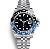 relógios automáticos para venda venda por atacado-Venda quente dos homens relógio de pulso azul preto de cerâmica moldura de aço inoxidável relógio 116710 movimento automático limitado watch new jubilee ma