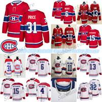 Wholesale hockey jerseys price resale online - Montréal Canadiens jersey Shea Weber Carey Price Brendan Gallagher Max Domi Ice Hockey Jerseys
