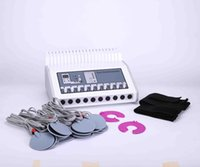 Wholesale microcurrent massager resale online - Electro stimulation ems massager microcurrent stimulator beauty equipment Equipo de GIMNASIA PASIVA Maquina Ondas Rusas Electroestimulador