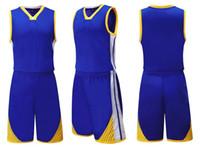 blanks de jerseys esportivos venda por atacado-Atacado homens personalizados em branco jérseis de basquete Conjuntos Com Shorts, Personalidade Streetwear Uniformes de treinamento kits de roupas Esporte fatos