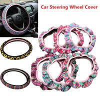 Wholesale steering for cars online - News Neoprene Sunflower Pattern Universal Car Steering Wheel Cover for party Wedding car decoration and Gifts Slip Wheel Cushion Protector