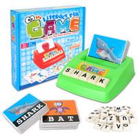 ingrosso imparare il bambino inglese-Alfabetizzazione divertente gioco Alfabeto inglese Word Puzzle Sviluppare Toy Baby Learning Educational Typer Toys Inglese Imparare le carte di alfabeto