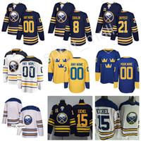 nombre de las camisetas del equipo al por mayor-Buffalo Sabres Rasmus Dahlin Jersey 26 Copa del Mundo Clásica de Invierno Equipo Suecia Hockey 21 Kyle Okposo Nombre Personalizado Número