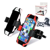 Wholesale bicycles phone holder online – Universal Bike Bicycle Motorcycle Handlebar Mount Holder Phone Holder With Silicone Support Band For Smartphone With Retail Package