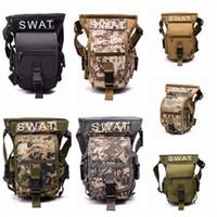 Wholesale camping tool belt for sale - Group buy Tactical waist bags drop leg waist belt bag outdoor hiking traveling fishing tools bag men belt pack ZZA471