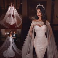 Wholesale beaded sweetheart wedding dress resale online - 2020 Glitter Mermaid Wedding Dresses With Wrap Sweetheart Sequined Beaded Beach Bridal Gowns Backless Ruffle Sweep Train Vestidos De Novia