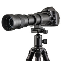Wholesale 420 mm F Super Telephoto Lens Manual Zoom Lens T2 Adaper Ring for Canon D D D Nikon Sony Pentax DSLR Cameras