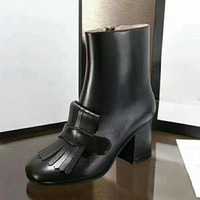 Wholesale black suede ladies heel boots for sale - Group buy Martin Boots Comfortable White Fashion Classic Round Head High Quality Simple Leather Short Boots Ladies Low Heels Martin