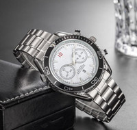 функциональный бренд оптовых-Горячие продажи марка диаметром 40 мм Стальная полоса Многофункциональный секундомер мода роскошные часы классические мужские Часы часы Relogio марка Наручные часы