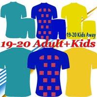 fútbol 22 al por mayor-Adultos y niños MESSI Griezmann Fútbol 19 20 Inicio Fuera tercera camiseta de fútbol SUAREZ F. DE JONG uniforme de fútbol Camisa de futbol
