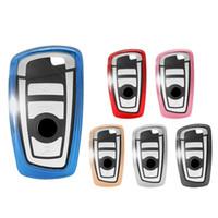 caso clave de shell para bmw al por mayor-La cubierta de TPU llave del coche Caso bolsas para BMW 1 3 4 5 6 7 Serie X3 X4 F10 F20 F30 inteligente 3 Botones protección Shell Bolsas auto llavero