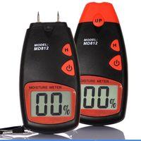 ingrosso pin digitale-Digital Legno Igrometro MD812 LCD 2 Pin Colore Nero Tester di Umidità Rilevatore di Umidità Portatile Strumenti di Lavorazione Del Legno 29wh E1
