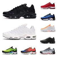 Wholesale green glitter shoes for sale - Group buy 2020 tn plus SE men running shoes ultra triple black white OG Hyper Blue Total Crimson Deluxe mens trainer fashion sports sneakers runner