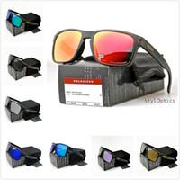 gafas de sol de envío al por mayor-Estilo (12) Diseño para hombre Gafas de sol Moda Humo Marco negro Lente polarizada NEW9244 / 9102 Gafas al aire libre a estrenar Envío gratuito