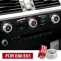 iç film toptan satış-BMW E61 E60 Için BMW Araba Aksesuarları İç Klima Ses Düğmesi Dekor İç Trim 5 Serisi Kapakları