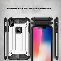 telefone celular cobre 5s venda por atacado-Caso à prova de choque para iphone x xs max xr 8 7 6 5 s 5S 6 s plus 6 mais 7 plus 8 plus alta qualidade blindado telefone celular tampa traseira