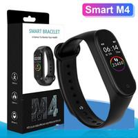 pulseras deportivas para niños al por mayor-M4 Smart Band Fitness Tracker Watch Pulsera deportiva Reloj inteligente de frecuencia cardíaca Fitbit 0.96 pulgadas Smartband Monitor Health Wristband PK mi Band 4
