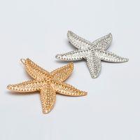 ingrosso stelle dei capelli accessori-Fashion Elegante Starfish Sea Star Forcine Barrette Wedding Lady Hair Clip Stick Hairpin Hair Styling Accessori