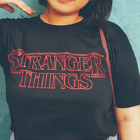 82c240e1f308 Eqmpowy Stranger Things Inspired Top Shop Unisex Mens Womans Tv Horror New T  Shirts Letter Print Cotton Fashion Tees   Tops