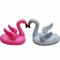 ingrosso i fenicotteri giocano i bambini-Hot kids Flamingo galleggiante nuotare anello bambino salvagente galleggiante acqua cerchio Piscine giocattoli 4684