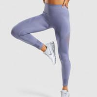 nylon dünne leggings großhandel-2019 neue stil frauen aushöhlen hohe taille leggings designer sportwear sexy dünne dünne rüttler legging