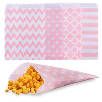 Wholesale dot wrapping paper resale online - Wedding Candy Bar Bags paper candy bags Cake Storage Snack Gift Kids for Buffet Paper Bag Striped Polka Dot Chevron x18cm