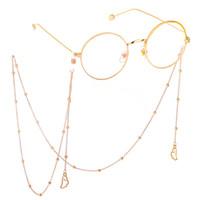 goldseilschnur groihandel-Brillenkette mit Engelsflügel Anhänger Gold / Silber Farbe Metall Sonnenbrillen Brillen Lesebrille Cord Halter Umhängeband Seil