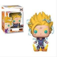 ejderha topu z rakamlar kutusu toptan satış-Funko Pop Dragon Ball Z Goku Kutusu # 518 Ile Sun Wufan Vinil Action Figure Hediye köknar çocuklar