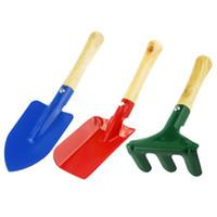 rastrillo de mini pala al por mayor-Los niños pequeños Mini herramientas de jardín Set de paleta Rake Shovel Home Garden Beach Toy envío rápido ZC0110