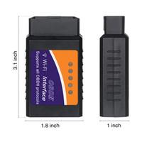 Wholesale elm 327 iphone resale online - OBD2 ELM327 WIFI BT V1 with Chip PIC18F25K80 Diagnostic Tool ELM For IPhone Android ELM327 V1 OBD OBDII Scanner