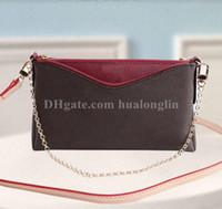 Wholesale cross body purses resale online - Bag woman purse women shoulder cross body clutch high quality date code