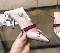 mädchen flache schuhe design großhandel-Mode echtes Leder Marke Design Damen flache Schuhe Freizeitschuhe Fischer Schuhe High Heels Mode Mädchen sexy Sandalen Hausschuhe