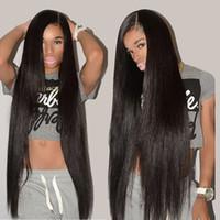 grau de cabelo indiano venda por atacado-8 '' -40 '' Onda Do corpo Em Linha Reta Cabelo Brasileiro Feixes de Cabelo Humano Virgem Peruano Malaio Indiano Malaio 9A Grau Msjoli