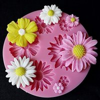 Wholesale 3d molds for cakes for sale - Group buy DIY D Flower Fondant Silicone Cake Molds Sugarcraft Baking Decorating Pastry Tools for Christmas Party