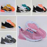 teenager mädchen schuhe großhandel-Nike air max 270 Hot Kids Triple tn Sneakers für Jungen Designer Schuhe Mädchen Plattform Kind Sport Kinder Chaussures Teenage Thick Soled Jugend