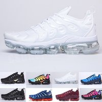 Wholesale best shoes tn resale online - 2020 TN PLUS Running Shoes For Men Women Black Speed Red White Anthracite Ultra White Black Best Designers Sneakers CS0326