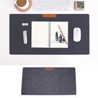 Wholesale home office computer desks resale online - 63 Large Soft Felt Cloth Desktop Mouse Pad Keyboard Office Laptop Notebook PC Table Mat Home Office Computer Desk Mousepad