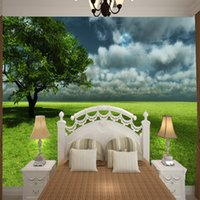 Wholesale wallpaper bathrooms resale online - 3D space pure green grassland photo wallpaper feast for the eyes in living room bedroom bathroom study room