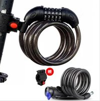Wholesale digital bicycle lock resale online - 5 Digital Password Bicycle Lock Combination Cable MTB Bike Lock Wire m Bicycle Cycling Security Coded Lock motorcycle circle locks